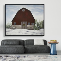 Framed 48 x 60 - It's winter on the farm