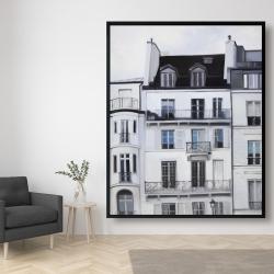 Framed 48 x 60 - Buildings along the seine river