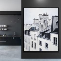 Framed 48 x 60 - Historical buildings