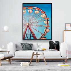 Framed 48 x 60 - Ferris wheel by a beautiful day