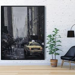 Framed 48 x 60 - New york in the dark