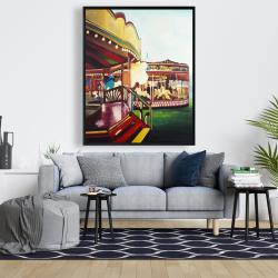 Framed 48 x 60 - Carousel in a carnaval
