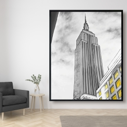 Framed 48 x 60 - Outline of empire state building