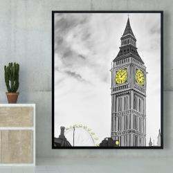 Framed 48 x 60 - Outline of big ben in london