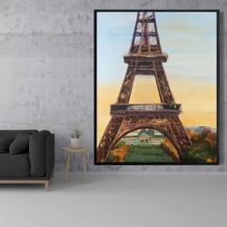 Framed 48 x 60 - Eiffel tower by dawn