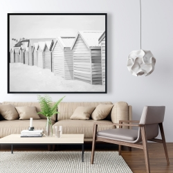 Framed 48 x 60 - Beach cabins
