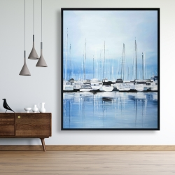 Framed 48 x 60 - Boats at the dock