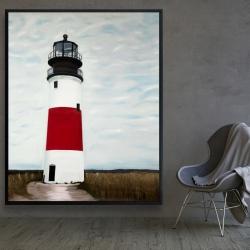 Framed 48 x 60 - Sankaty head lighthouse