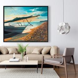 Framed 48 x 60 - Peaceful seaside