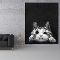 Framed 48 x 60 - Curious cat