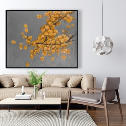 Framed 48 x 60 - Golden wattle plant with pugg ball flowers