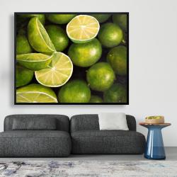 Framed 48 x 60 - Basket of limes