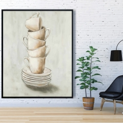 Framed 48 x 60 - Stacked cups