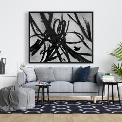 Framed 48 x 60 - Circular strokes