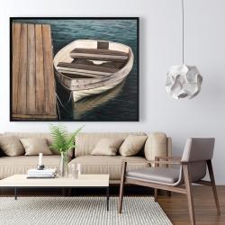 Framed 48 x 60 - Rowboats