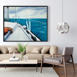 Framed 48 x 60 - Sail on the water