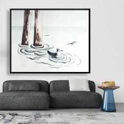 Framed 48 x 60 - Seagull