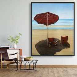 Framed 48 x 60 - Relax at the beach