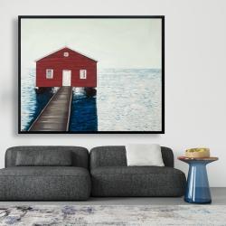 Framed 48 x 60 - Boathouse
