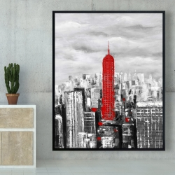 Framed 48 x 60 - Empire state building of new york