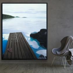 Framed 48 x 60 - Evening on the dock