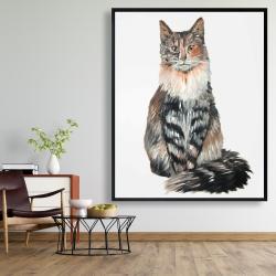 Framed 48 x 60 - Norwegian forest cat