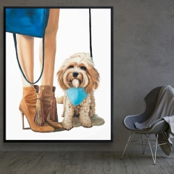 Framed 48 x 60 - Fashionable cavoodle dog