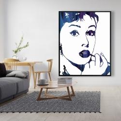 Framed 48 x 60 - Audrey hepburn: cigarillo
