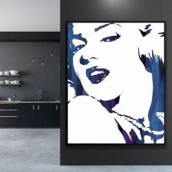Framed 48 x 60 - Marilyn monroe in blue