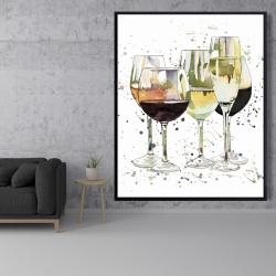 Framed 48 x 60 - Beautiful wine glasses