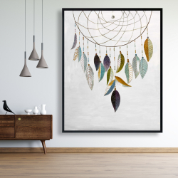 Framed 48 x 60 - Dreamcatcher with feathers