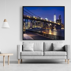Framed 48 x 60 - City at night