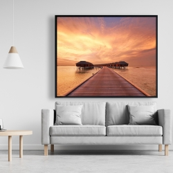 Framed 48 x 60 - Sea villas