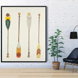 Framed 48 x 60 - Canoe paddles