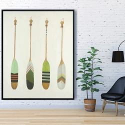 Framed 48 x 60 - Colorful nautical oars