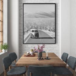 Framed 48 x 60 - Car on the road