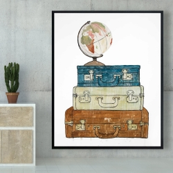 Framed 48 x 60 - Go around the world