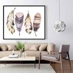 Framed 48 x 60 - Purple feather set