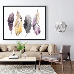 Framed 48 x 60 - Bohemian feather set
