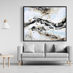 Framed 48 x 60 - Abstract and texturized paint splash