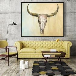 Framed 48 x 60 - Cow skull