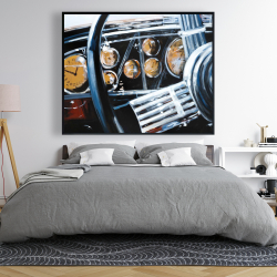 Framed 48 x 60 - Vintage car interior