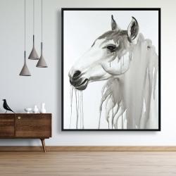Framed 48 x 60 - Beautiful white horse