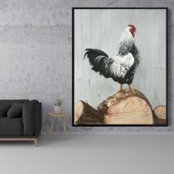 Framed 48 x 60 - Wyandotte rooster