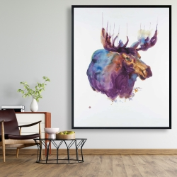 Framed 48 x 60 - Abstract moose