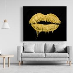 Framed 48 x 60 - Golden lips