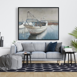 Framed 48 x 60 - Fishing boat desatured