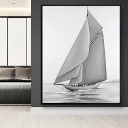 Framed 48 x 60 - Vintage sailing ship