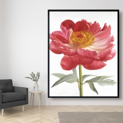 Framed 48 x 60 - Pink peony
