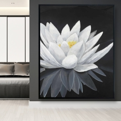 Framed 48 x 60 - Lotus flower with reflection